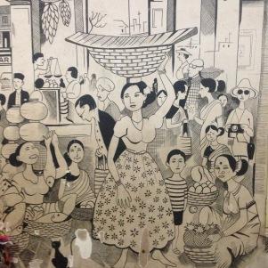 Graffiti / Gare de Magdao / Départ pour le Kerala