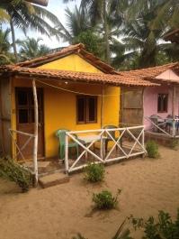 Notre hutte sur la plage / Patnem / Goa Sud