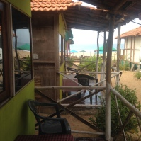 Vue de notre hutte / Patnem / Goa Sud