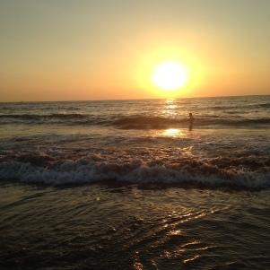 Coucher de soleil à Anjuna / Goa Sud