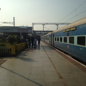 De Goa à Kochi - Petite pause - Notre train à quai