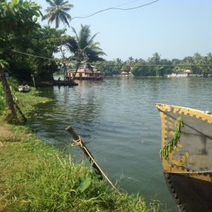 Rivage pendant une halte / Backwaters / Kerala