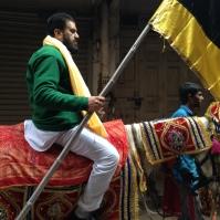 Man with a flag - Amritsar