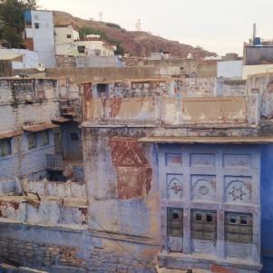 Premières vues sur la ville de Jodhpur à notre arrivée