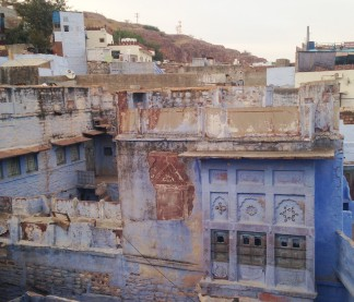 Vue de la terrasse du Pushp Restaurant - Jodhpur