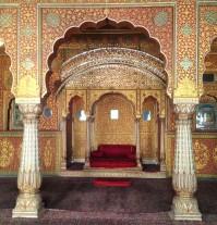 Mosaïques et pierres précieuses, détails intérieurs du fort