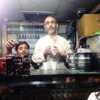 Stand de chai, thé typique indien