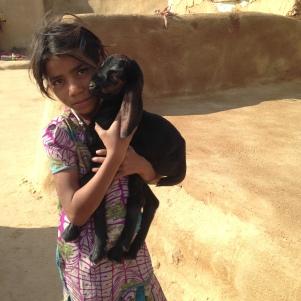 Petite fille du Village dans le Désert du Thar