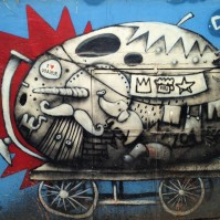 Grafitti dans les rues d'Udaïpur