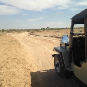 Notre Jeep du désert dans le Desert National Park de Jaisalmer