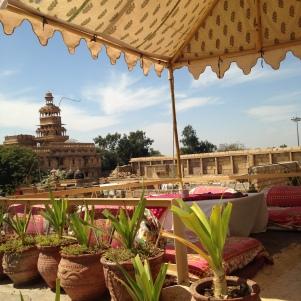 Vue de la terrasse du Trio Restaurant, à Jaisalmer