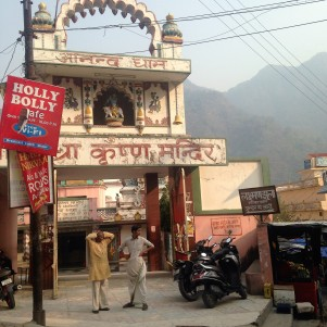Place dans le village de Rishikesh