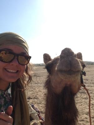 Camel selfie, pas très sereine