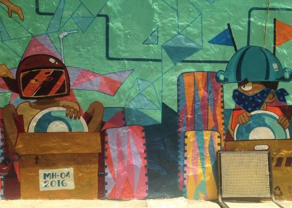 Blue Wall - Ecole d'art - Bombay