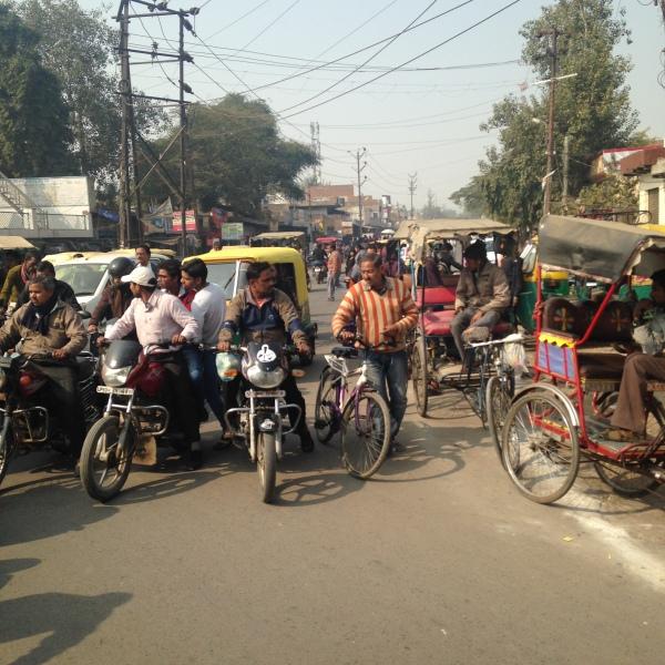 Petit embouteillage - Route pour Fatepur Sikhri