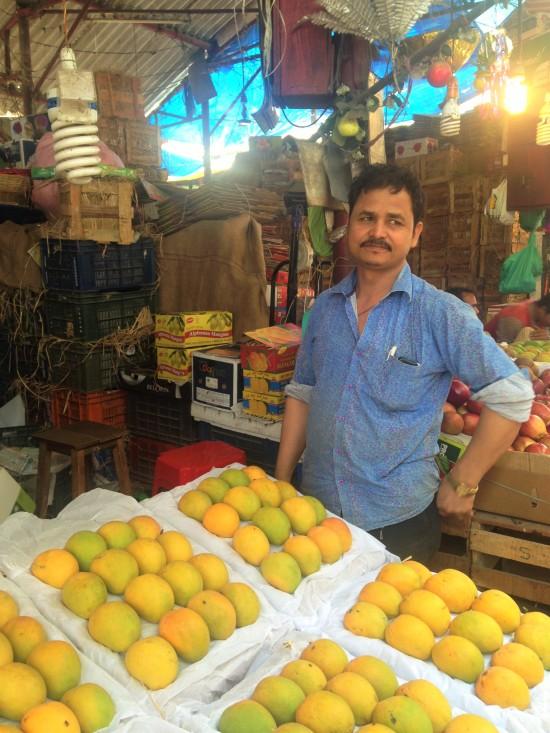 Vendeur de mangues - Crawford Market - Bombay