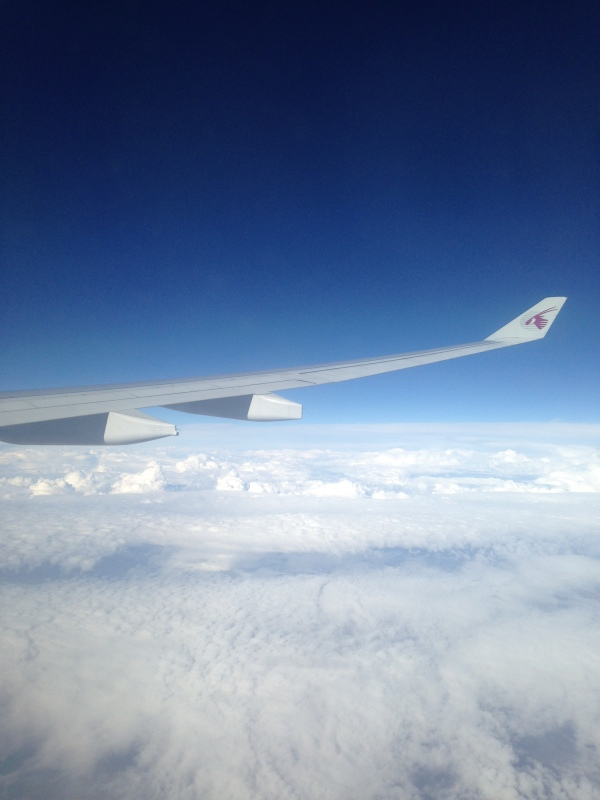 In the air - Doha to Paris